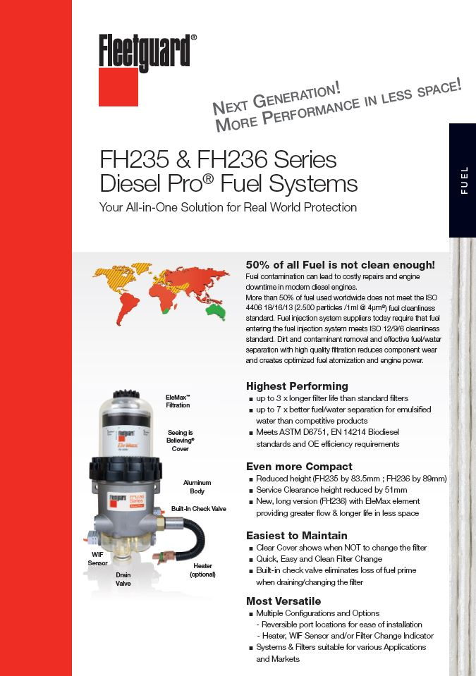 fh235 & fh236 series diesel pro� fuel systems