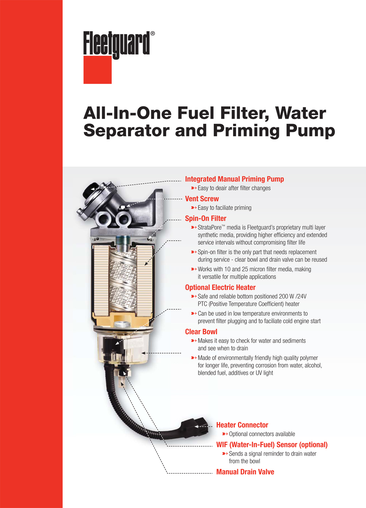 All-In-One Fuel Filter, Water Separator, and Priming Pump | Cummins