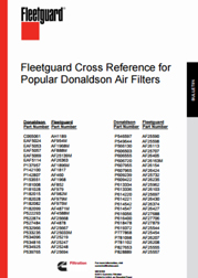 Fleetguard Cross Reference For Donaldson Air Filters